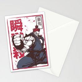 Akuma Gouki street fighter Stationery Cards