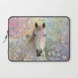 Snowy Horse Laptop Sleeve