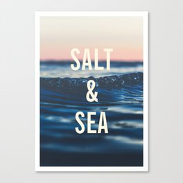 Salt & Sea Canvas Print