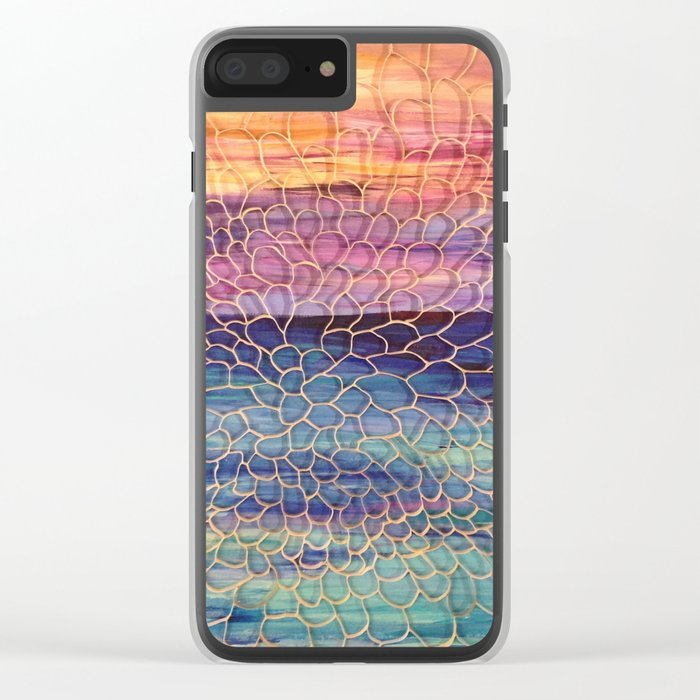 Looking through Lace Clear iPhone Case