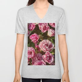 Fowers in Pink Unisex V-Neck