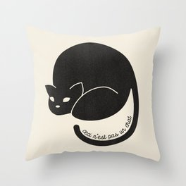 Ceci N'est Pas Un Chat Throw Pillow