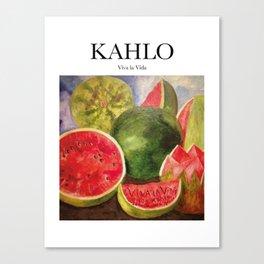 Kahlo - Viva la Vida Canvas Print