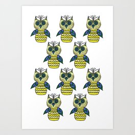 Many Owls (4) Art Print