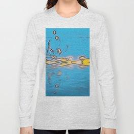 Digital Blue Art Design Long Sleeve T-shirt