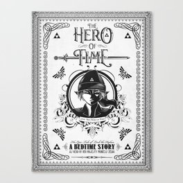 Legend of Zelda Link The Hero of Time Minimal Edition Canvas Print
