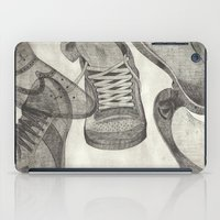 shoes iPad Cases featuring shoes by Caterina Zamai