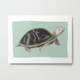 Tulip Turtle Metal Print