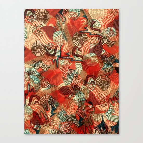 Melting Mix Canvas Print