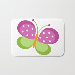 Cute Butterflies Bath Mat