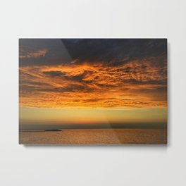 Dramatic orange - clouds on fire Metal Print