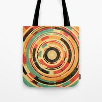 dave grohl Tote Bags featuring Space Odyssey by Picomodi