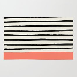 Coral x Stripes Rug