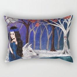 The wolf maid Rectangular Pillow