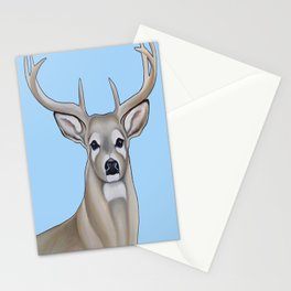 Painting of a Buck  Stationery Cards