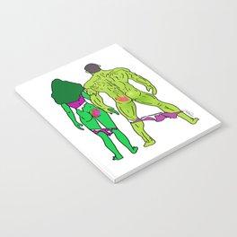 Superhero Butts Love 5 - Green Notebook