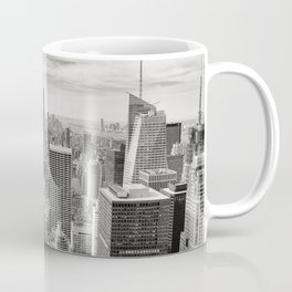 New York City black and white NYC skyline Empire State Building Big Apple skyscraper photograph Coffee Mug