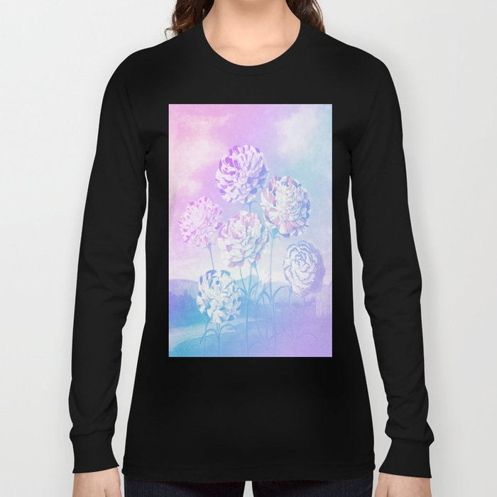 Colorful Pastel Flowers Long Sleeve T-shirt