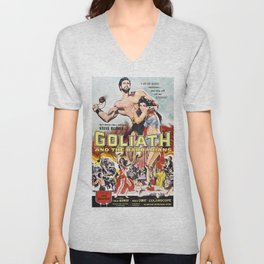 Vintage poster - Goliath and the Barbarians Unisex V-Neck