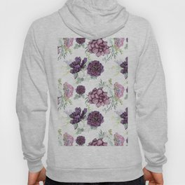 Succulents Deep Violet Lavender Pastel Green Lilac PatternSee Nature Magick for more pretty pastel c Hoody
