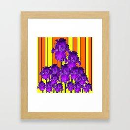 Decorative Contemporary Purple Yellow Iris Orange Garden Art Framed Art Print
