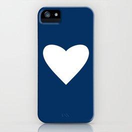 Navy Blue Heart iPhone Case