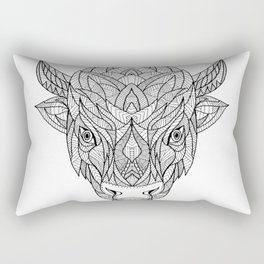 American Bison Zentagle Rectangular Pillow