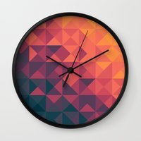 twilight Wall Clocks featuring Infinity Twilight by Picomodi
