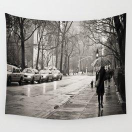 New York City - Rain Wall Tapestry