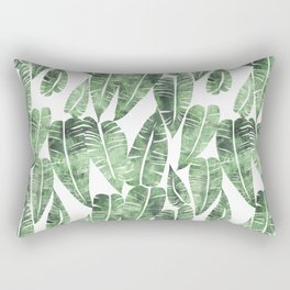 Island Goddess Leaf Green Rectangular Pillow
