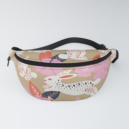 Bunnies & Blooms – Coral & Pink Fanny Pack