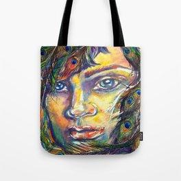 The Peacock Woman Tote Bag
