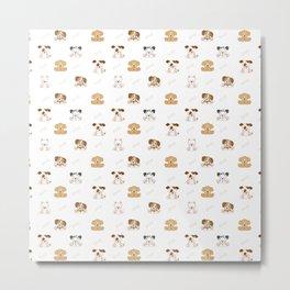 Puppy Dog Baby Nursery Wall Art Metal Print