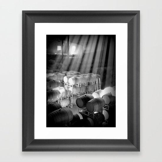 barrel room Framed Art Print