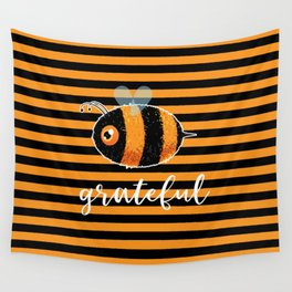 Be (Bee) Grateful Cute Funny Gift Women Men Boys Girls Kids Wall Tapestry