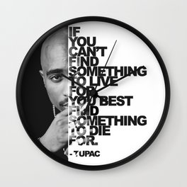 Urban Tupac With Word Quote | Urban Collection Wall Clock