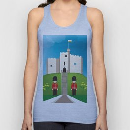 Cardiff, Wales - Skyline Illustration by Loose Petals Unisex Tank Top