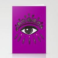 kenzo Stationery Cards featuring Kenzo eye in purple by cvrcak
