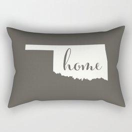Oklahoma is Home - White on Charcoal Rectangular Pillow