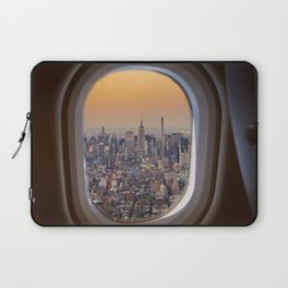 New York skyline from airplane window Laptop Sleeve
