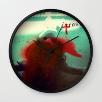 cross Wall Clocks featuring Cross by oppositevision