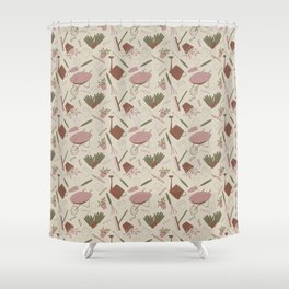 A Day in the Garden - Rose Shower Curtain