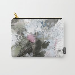 Painted thistle on textured background Carry-All Pouch