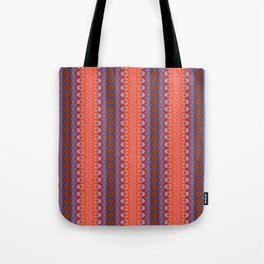 Vibrant blue and orange pattern Tote Bag