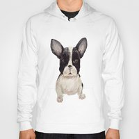frenchie Hoodies featuring Frenchie  by craftberrybush