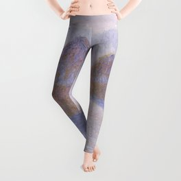 Haystacks, Effect of Snow and Sun by Claude Monet Leggings