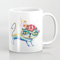 kitty Mugs featuring kitty by Katja Main