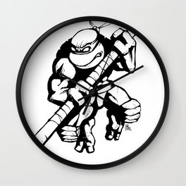TMNT Donatello Ninja Turtle Wall Clock