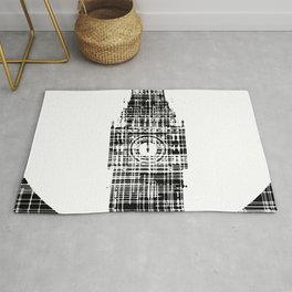 Big Ben Grunge Background Rug