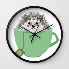 St. Patrick's Hedgehog Wall Clock
